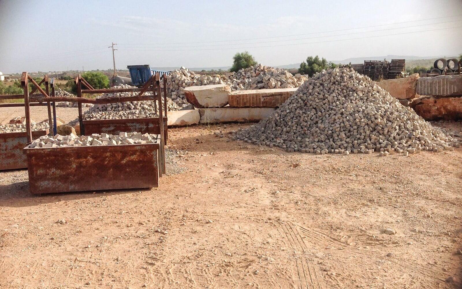 Separação de pedras
